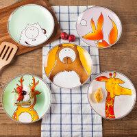 牛排西餐盘子陶瓷餐具可爱儿童创意卡通圆碟子个性好看的菜盘家用iv0