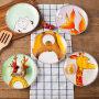 【支持礼品卡】牛排西餐盘子陶瓷餐具可爱儿童创意卡通圆碟子个性好看的菜盘家用iv0