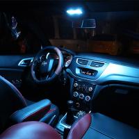 丰田RAV4普拉多卡罗拉皇冠雷凌锐志汉兰达威飒致炫改装LED阅读灯 普拉多霸道第2 3排双开关12件套