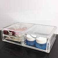 超大号亚克力多抽屉式护肤品多层整理盒桌面组合韩国卫生间收纳盒