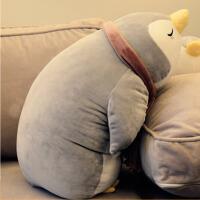 儿童生日礼物 企鹅公仔毛绒玩具布娃娃女孩长条睡觉大抱枕 企鹅