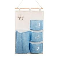棉麻防水收纳挂袋悬挂式多层挂兜布艺门后杂物储物袋收纳袋 如图