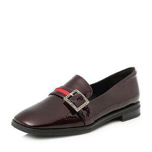 Tata/他她2018春专柜同款牛皮饰扣方头乐福鞋女皮鞋S1230AQ8