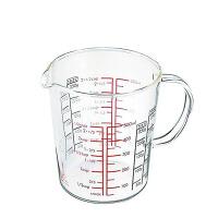 普智 耐热玻璃量杯 带刻度量杯 牛奶杯 凉水杯 料理杯 (500毫升)
