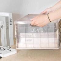 学生书篮子书框教室用生折叠衣服装收纳盒整理箱透明箱子