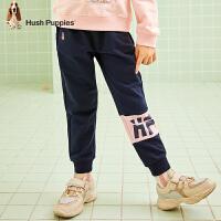 【2件5折价:103元】暇步士童装女童裤子春秋装新款儿童运动裤纯棉休闲裤中大童长裤