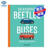 现货英文原版 大众甲壳虫和巴士 纪念这两款经典车型诞生周年精装艺术书 Volkswagen Beetles and Bu