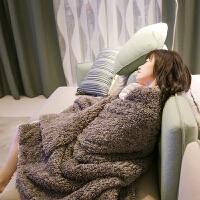 ???秋冬季新款双层加厚大绒毯沙发单人盖毯保暖双人毛毯