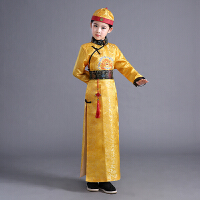 儿童古装清朝皇帝太子阿哥服贝勒服小地主少爷服男孩古代演出服装