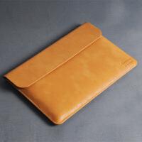 小米笔记本Air 2 3pro保护皮套戴尔XPS3 12.5寸平板电脑内胆包 牛皮黄 12寸