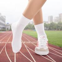 儿童白袜子 1-12岁女童男童白色运动无骨春秋宝宝学生中筒袜qg