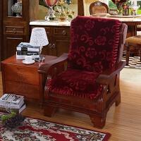 实木沙发垫木头三人连体带靠背单人坐垫色8厘/加厚