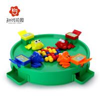 亲子互动趣味桌面游戏4-6岁3知识花园抖音同款青蛙吃豆玩具