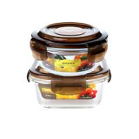 耐热玻璃饭盒学生加热保鲜盒玻璃碗微波炉泡面碗