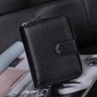 新款女士钱包短款多功能卡包女式皮夹子男士真皮驾驶证皮套包