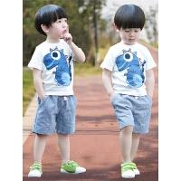 男童夏装新款套装小童夏天宝宝短袖两件套洋气潮儿童夏季童装