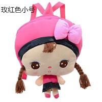 韩版毛绒玩具安吉拉双肩背包幼儿园宝宝小书包卡通儿童可爱包