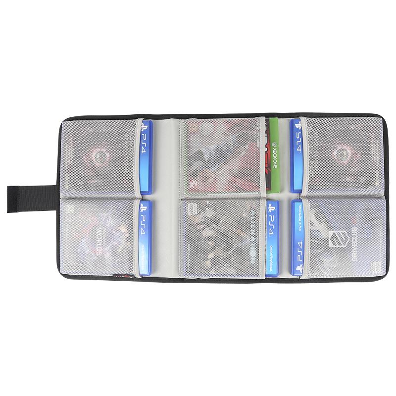 游戏碟ps4收纳ps4游戏光碟收纳包xbox游戏光盘收纳盒PS4专用pro配件slim蓝