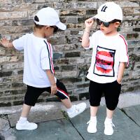 男童夏装新款套装帅气宝宝短袖儿童衣服两件套潮