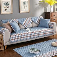 米兰全棉组合沙发垫子布艺简约现代防滑皮沙发坐垫棉垫四季通用