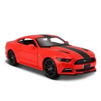 1:24福特野马GT仿真金属合金汽车模型原厂改装跑车模型摆件 福特野马GT 改装 红101
