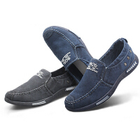 乌龟先森 布鞋 男士夏季新款男式帆布鞋一脚蹬透气懒人鞋低帮学生布鞋休闲2018冬