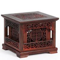 红木木雕摆件四角双层盘香盒红酸枝盘香炉檀香盒子