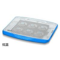 时尚部落 笔记本散热器 N100六风扇双USB笔记本电脑支架散热垫15.6
