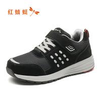 【红蜻蜓领�涣⒓�150】红蜻蜓运动鞋秋新舒适运动网面鞋中老年妈妈鞋软底老人鞋