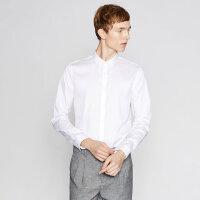 【2件1.5折价:67.4,可叠券】MECITY男装冬纯棉纯色商务免烫长袖衬衫