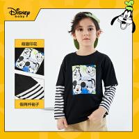 【3件4折券后预估价:50.8】迪士尼男童长袖T恤2021春装新款洋气打底衫儿童帅气童装上衣