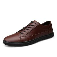 新款正装商务男士休闲皮鞋韩版潮流真皮青年韩版特大码45男鞋板鞋