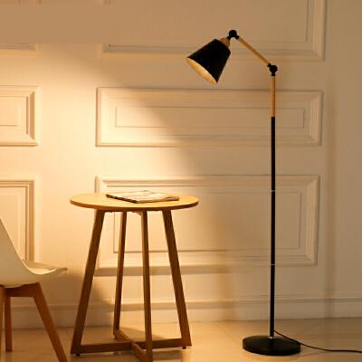 落地灯现代简约LED护眼钓鱼灯遥控创意北欧客厅卧室书房立式台灯n7p默认发黄光要白光请留言