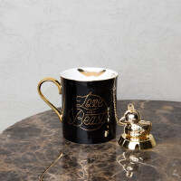 THE BEAST/野兽派 唇印马克杯 精致骨瓷杯子带茶漏 创意个性水杯