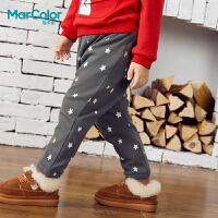 巴拉巴拉旗下马卡乐冬男童星星印花束口防风针织长裤