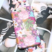 原创文艺复古牡丹花苹果6s手机壳iphone6plus保护套全包软壳磨砂 plus/splus全包软壳