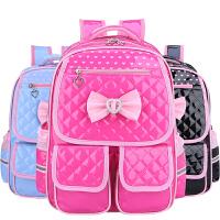 韩版小学生书包1-3-5-6年级儿童女生8-12周岁PU皮防水减负双肩包可爱女童书包