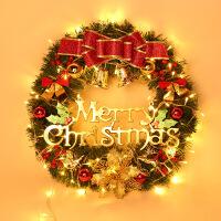 新款圣诞发光花环灯装饰圣诞节礼品装饰