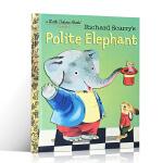 原版绘本 Polite Elephant 讲礼貌的大象 Richard Scarry 斯凯瑞金色童书 3-6岁幼儿启蒙