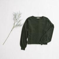 【1件4折到手价:55.6】美特斯邦威套头小清新毛衣秋装女新款舒适长袖纯色套头针织衫