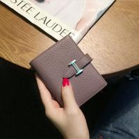 女士钱包短款多功能折叠小清新迷你零钱袋两折欧美时尚个性皮夹子