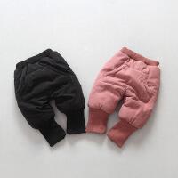 中小童冬装新款男女童加绒保暖加厚棉裤夹棉童裤大PP裤子A6-B9
