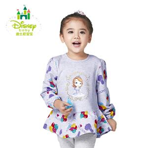 迪士尼Disney童装甜美可爱肩开扣圆领长袖上衣163S822