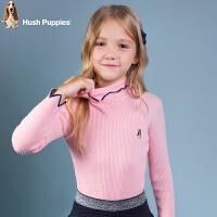 暇步士童装春季新款女童打底衫简约时尚套头线衣儿童针织衫