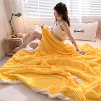 珊瑚绒毛毯被子薄款夏天法兰绒午睡毯子单人学生宿舍羊羔绒空调毯