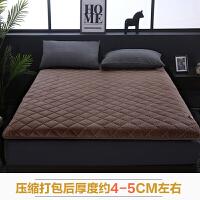驼绒床垫床褥1.2m床单双人垫子1.5米加厚珊瑚绒榻榻米1.8m床垫被