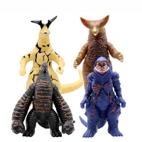 软胶怪兽银河奥特曼玩具哥莫拉贝利亚雷欧雷德王超人人偶模型套装 四只怪兽-A [4只大号]