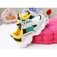 秋季休闲运动鞋子女跑步鞋女学生透气厚底小白鞋