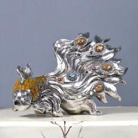 欧式奢华家居客厅酒柜装饰品摆件创意结婚礼品情侣鱼