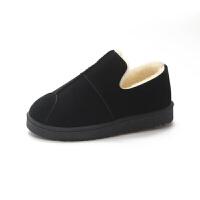 雪地靴女短筒冬季鞋子2018新款潮韩版冬天加绒棉鞋靴子短靴面包鞋真皮